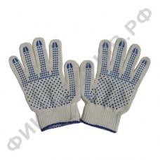 Перчатки х/б с ПВХ 5 нитей 10 класс прочности